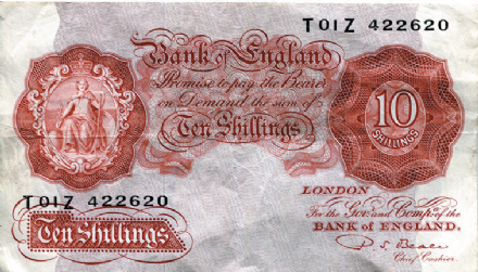 British Ten Shilling Note